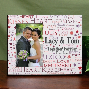 Personalized Loving Couple Word-Art Printed Frame