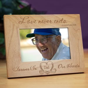 Love Never Ends Memorial Wood Picture Frame | In Memory Of Gifts