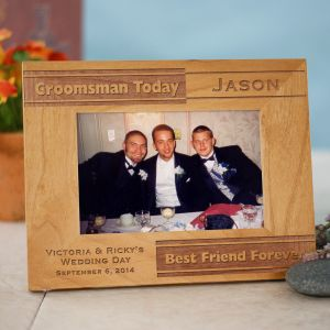 Personalized Groomsman Wood Picture Frame | Personalized Wood Picture Frames
