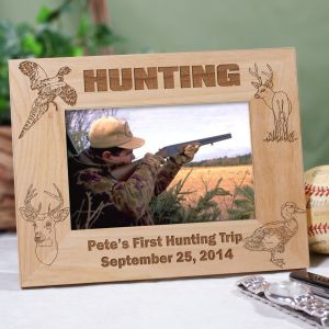 Engraved Hunting Wood Picture Frame