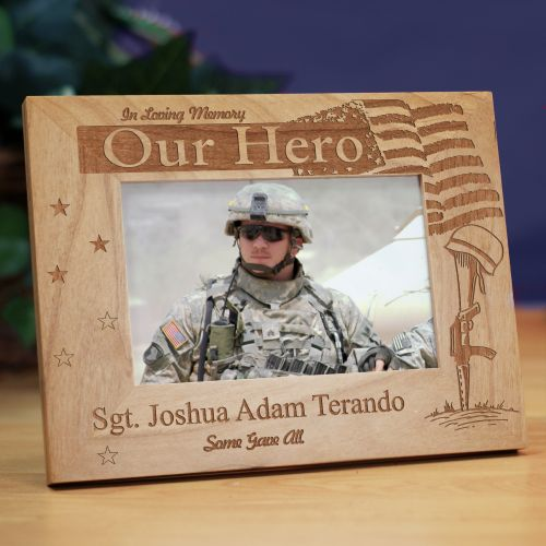 Engraved Military Memorial Picture Frame 95599X