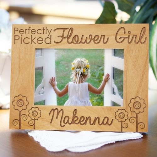 Engraved Flower Girl Wood Picture Frame 97656X