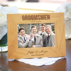 Engraved Bridal Party Wood Picture Frame