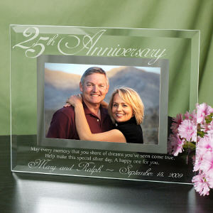 25th Anniversary Glass Picture Frame G929061-25