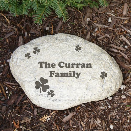 Engraved Irish Family Garden Stone L551814