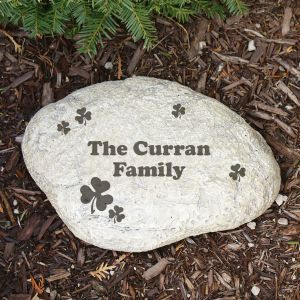 Engraved Irish Family Garden Stone