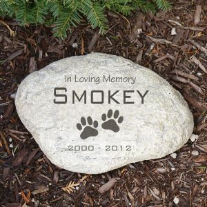 Engraved Pet Memorial Garden Stone | Personalized Stones