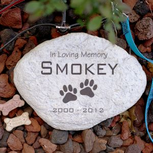 Engraved Pet Memorial Garden Stone