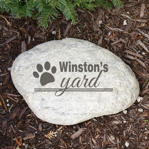 Engraved Dog's Yard Garden Stone L664914