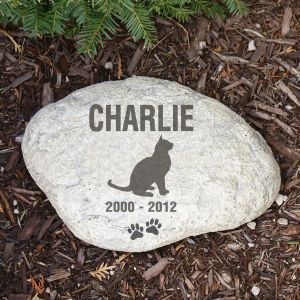 Personalized Cat Memorial Garden Stone