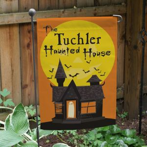 Personalized Haunted House Garden Flag 83037172