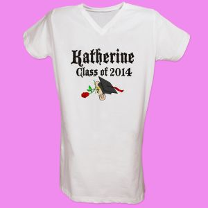 Diploma Rose Class Of Personalized Graduation Nightshirt