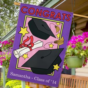 Personalized Graduation Flag