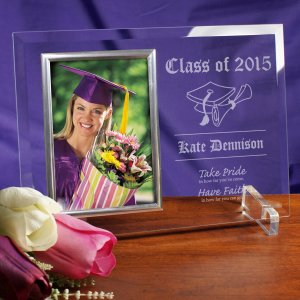 Take Pride Graduation Beveled Glass Picture Frame