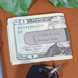 Engraved Class Of Graduation Silver Money Clip