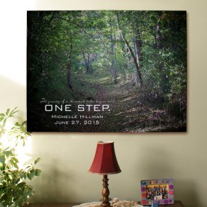 One Step Personalized Inspirational Wall Canvas