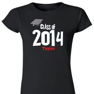 Personalized Graduation Class Womens T-Shirt