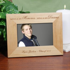 Personalized Memories and Dreams Graduation Wood Picture Frame