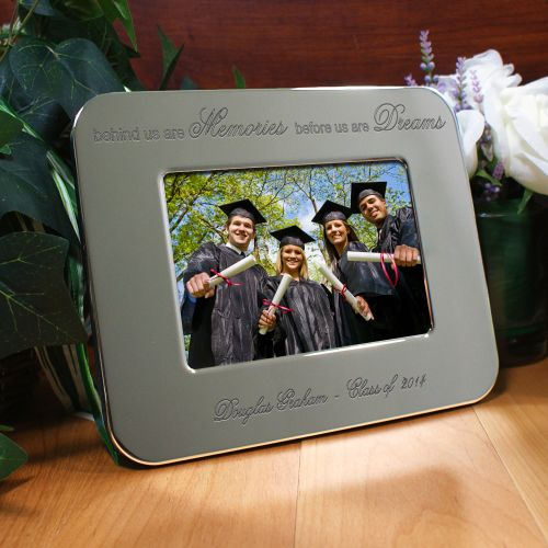 Engraved Graduation Silver Picture Frame | Graduation Frames