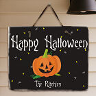 Happy Halloween Welcome Slate Plaque