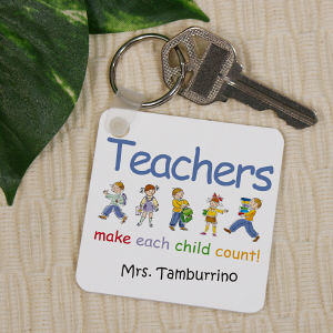 Make Each Child Count Personalized Teacher Key Chain