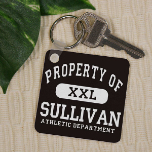 Personalized Property Of Key Chain