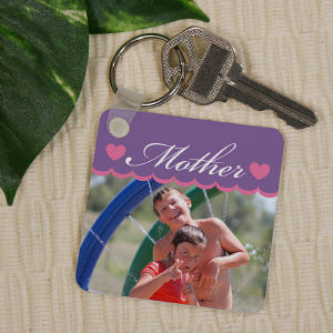 Personalized Mother Photo Key Chain