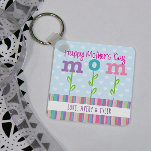 Personalized Happy Mother's Day Key Chain