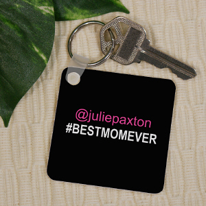 Personalized Best Mom Key Chain