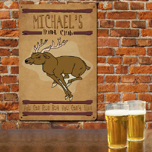 Personalized Hunt Club Metal Wall Sign