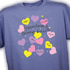 Personalized Shirt For Grandma - Heart Design