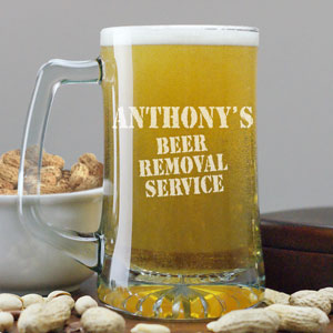 Engraved Beer Removal Service Mug