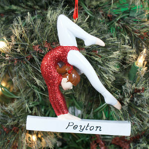 Personalized Gymnast Ornament