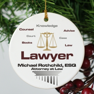 Lawyer Personalized Ceramic Ornament