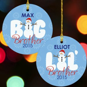 Big Brother - Lil Brother Snowman Ornament