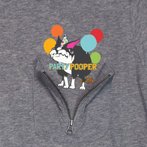 Party Pooper Zipper Pocket T-Shirt ZT311069X