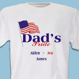 Dad's American Pride Personalized T-Shirt