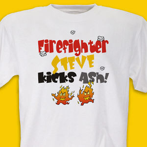Kicks Ash Firefighter T-Shirt