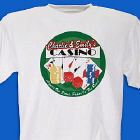 Poker Casino Personalized Adult T-shirt