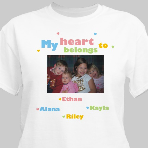 My Heart Personalized Photo T-Shirt | Personalized T-shirts