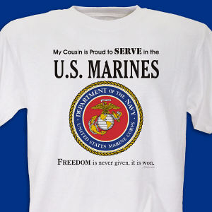 Proud To Serve Personalized Military T-shirt