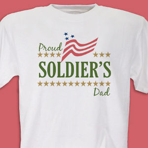 Proud Soldier's... Personalized Military T-shirt