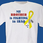 I Know Someone Fighting in Iraq Personalized Military T-shirt