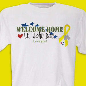 Welcome Home Personalized Military T-shirt