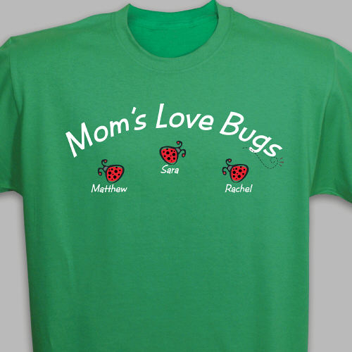 Love Bugs Personalized T-Shirt | Personalized Mom Shirts