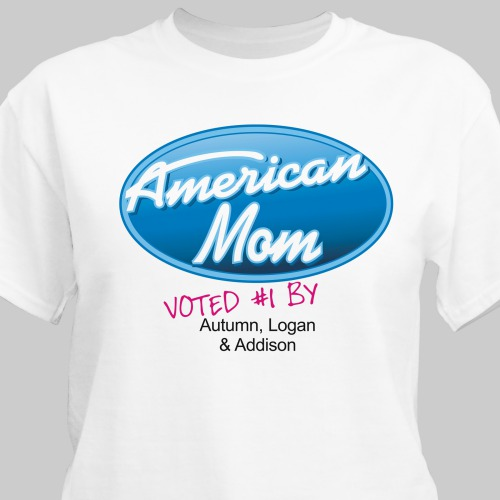 American Mom Personalized T-Shirt | Mom T-Shirts