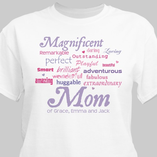 Magnificent Mom Personalized Mother's Day T-shirt | Shirts For Mom