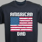 American Flag Personalized Black T-shirt