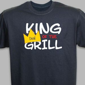 Personalized King Of The Grill Black T-Shirt