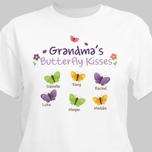 Butterfly Kisses Personalized T-shirt